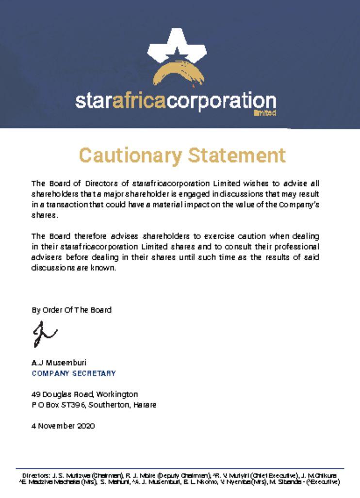 thumbnail of Updated SAC Cautionary Statement Nov 2020